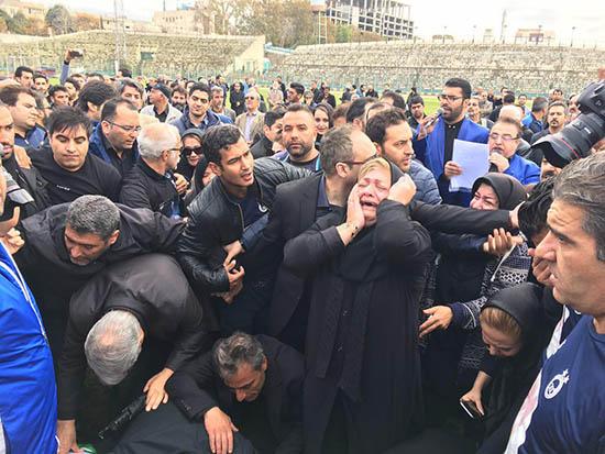 تصاویر مراسم تشییع و خاکسپاری منصور پورحیدری