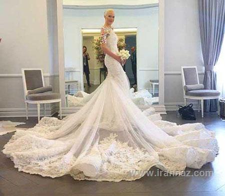 مدل های زيبای لباس عروس دنباله دار