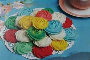 آموزش شیرینی بدون فر رزت خامه ای