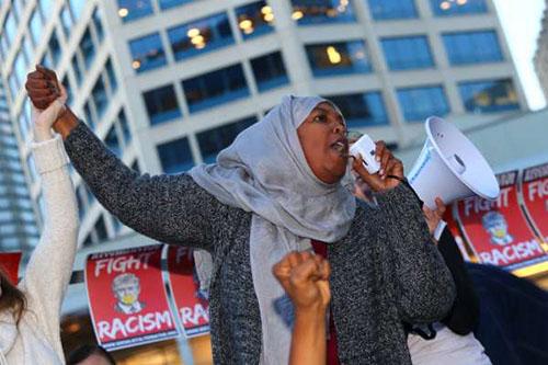 تظاهرات آمریکاییها علیه ترامپ و واکنش اوباما +تصاویر