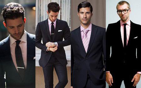 روش ست کردن کت و شلوار مشکی با پیراهن و کراوات