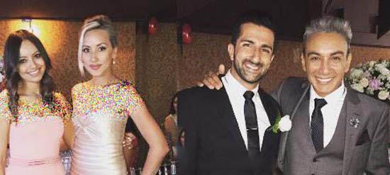 تیپ شادمهر عقیلی و همسرش در یک عروسی
