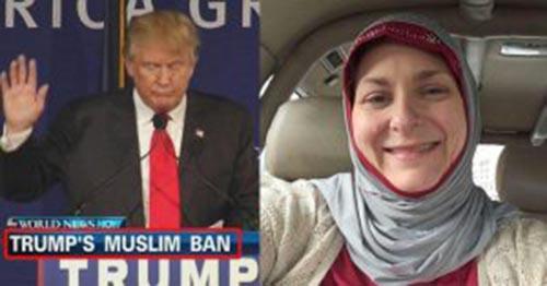 دونالد ترامپ یک زن آمریکایی را مسلمان کرد
