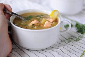 دستور پخت سوپ سالمون
