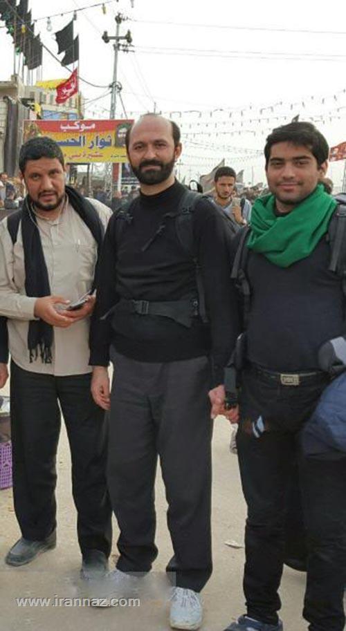 سعید طوسی قاری جنجالی در پیاده روی اربعین +عکس