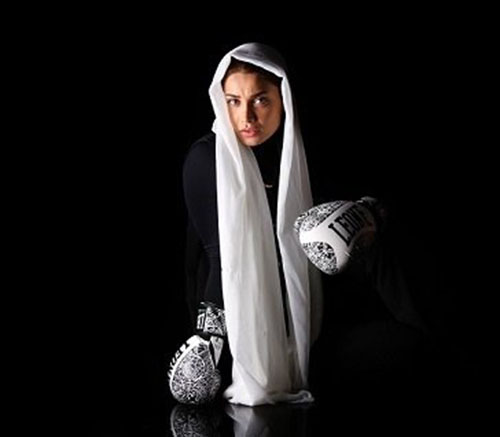 خانم بازیگر مشهور اولین بوکسور زن کشور شد+عکس