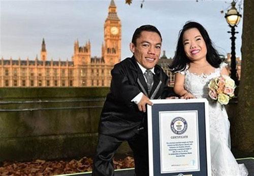 نام کوتاه ترین عروس و داماد دنیا در گینس ثبت شد +تصاویر