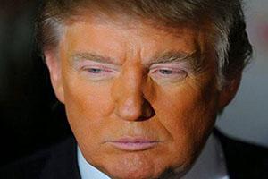 چرا پوست صورت ترامپ نارنجی است +تصاویر