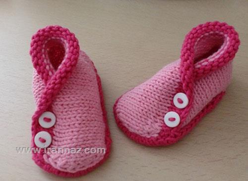 جدیدترین مدلهای پاپوش و کفش بافتنی بچگانه