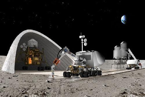 ساختمان سازی دانشمند ایرانی در مریخ و ماه +عکس