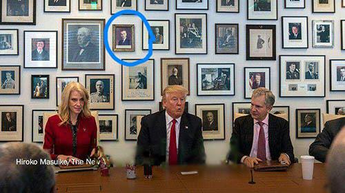 دونالد ترامپ در کنار محمد رضا شاه پهلوی +عکس