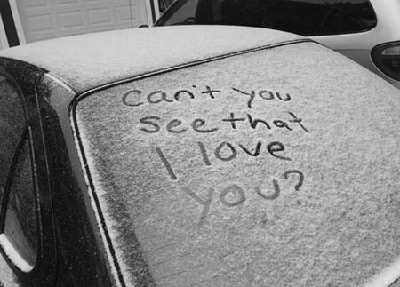 عکس نوشته زیبای روزهای برفی