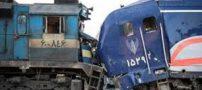 تصاویر و علت برخورد دو قطار در سمنان +فیلم