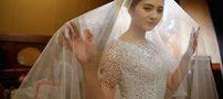 یک عروس بدون حضور داماد در جشن عروسیش شرکت کرد