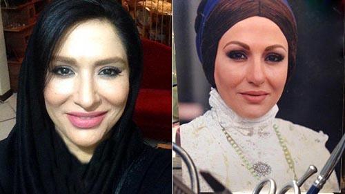 عکس قبل و بعد گریم بازیگر فرح در معمای شاه +مصاحبه