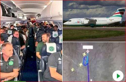 هواپیمای بازیکنان تیم فوتبال برزیل سقوط کرد +تصاویر