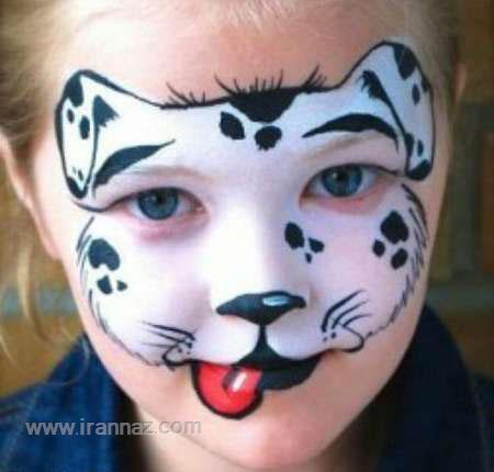 تصاویر نقاشی چهره کودکان و گریم به شکل حیوانات