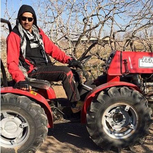بازیگر مختار نامه بخاطر بیکاری رو به کشاورزی آورد +عکس