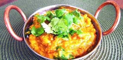 آموزش غذای هندی دال عدس با هویج و گل کلم