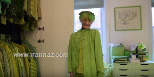 این خانم خوش قلب سرتاپا سبز را بشناسید +تصاویر