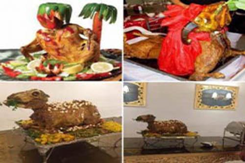 اعتراض خانم بازیگر گیاهخوار به تزئین کباب بره +عکس