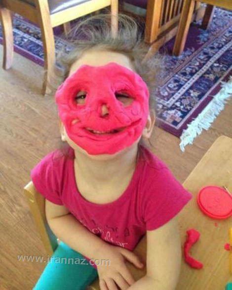 عکسهای خنده دار شیطنت کودکان