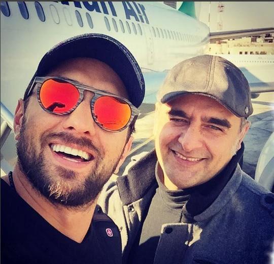 سلفی بهرام رادان و برادرش شهرام +بیوگرافی