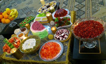 زیباترین مدلهای تزئین میز شب یلدا