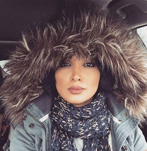 تیپ بازیگر زن ایرانی در سرمای 15- کانادا