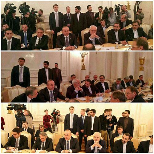 جزئیات نگاه عجیب محافظ ظریف به محافظ وزیر خارجه ترکیه +فیلم