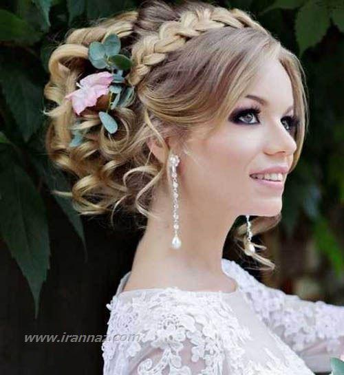 جدیدترین مدلهای تاج و شینیون عروس اروپایی