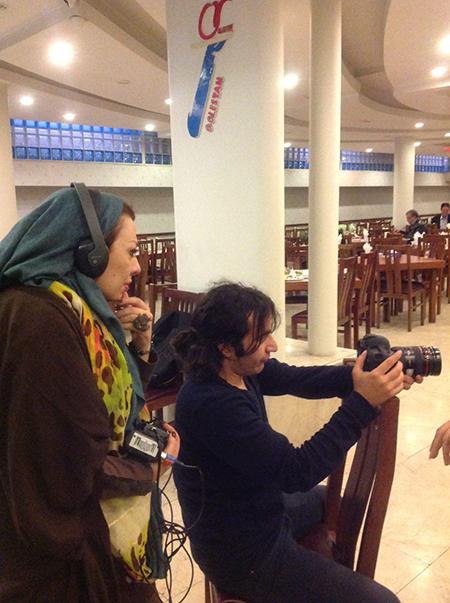 ساخت فیلم زندگی لادن طباطبایی و دخترش +تصاویر