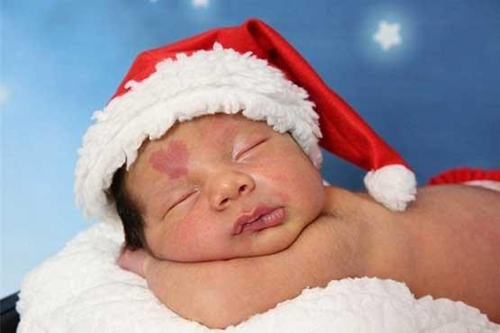 نوزاد که با علامت عشق روی صورتش بدنیا آمد +عکس