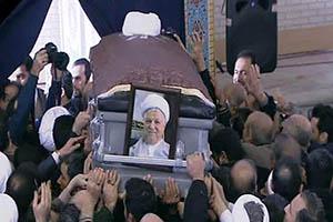فیلم و عکس خاکسپاری و قبر آیت الله هاشمی
