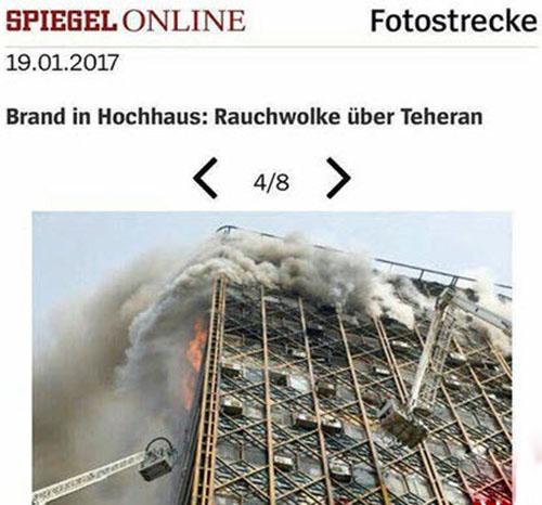 واکنش دیدنی خبرنگار آلمانی به حادثه پلاسکو +تصاویر