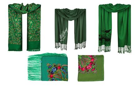 زیباترین مدلهای روسری و شال مد سال