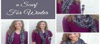 5 مدل بستن شال گردن زمستانی