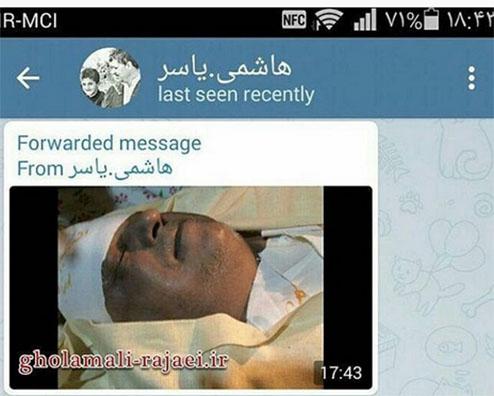 عکس دیده نشده از چهره آیت الله هاشمی در کفن