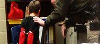 تصاویر بازداشت کودک ایرانی با دستبند در آمریکا