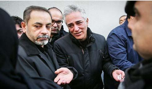 تصاویر گریه خانواده حسن جوهرچی در مراسم تشییع
