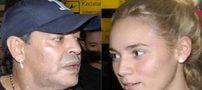 جنجال آبروریزی مارادونا و نامزدش در هتل (عکس)