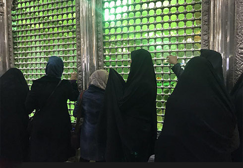 تصاویر مراسم چهلم آیت الله هاشمی در مرقد امام
