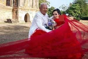 عروسی جالب این زن همه را شگفت زده کرد (تصاویر)