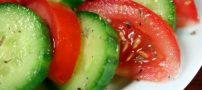 مصرف گوجه با خیار و غذاهای مختلف ضرر دارد