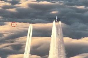شی پرنده مرموز سیستم ارتباط هواپیما را قطع کرد (فیلم و عکس)