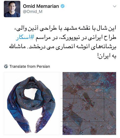 تصاویر انوشه انصاری و فیروز نادری روی فرش قرمز اسکار