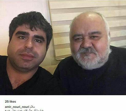 گزارش بازیگر طنز مشهور از حال اکبر عبدی (عکس)