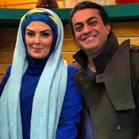 دیدار خانم بازیگر ایرانی با برادرش بعد از سالها (عکس)