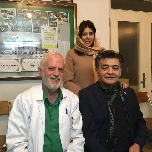 رضا رویگری و همسرش در مطب پزشک مشهور (عکس)
