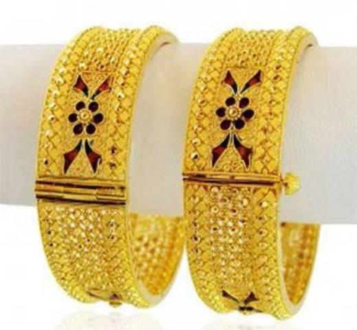 مانتو تک ناز مدل النگوهای طلا هندی جدید